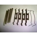 Jeu axes + clips fixation plaquettes ( paire )